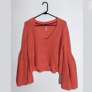 Free People Damsel Sweater Orange